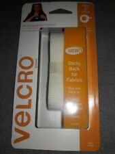 """VELCRO(R) Brand STICKY BACK For Fabric Tape .75""""X24"""" White 075967918729"""