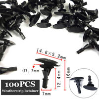 For Ford N806289-S Weatherstrip Clip 100pcs Set Retainer Plastic Nylon Replaces