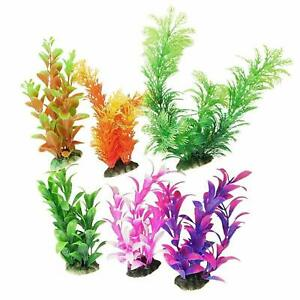 Combo Artificial/Plastic Plant for Decoration of Aquarium - 8 inch Height