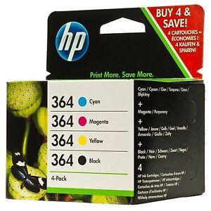 Genuine Original HP 364 Combo Pack Set 4 Ink B/C/M/Y - & FREE DELIVERY N9J73AE