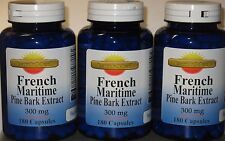 French Maritime Pine Bark Extract 300mg 540 capsules 90% Polyphenols Exp: 2021