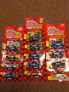1996/1997 lot of 13 NASCAR Racing Champions 1:64 Scale (A)