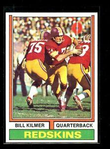 1974 TOPPS #58 BILL KILMER REDSKINS NM/MT D023589