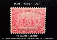 US VF Mint Stamp, #329 – 1907 2c Jamestown Commemorative: Founding of Jamestown