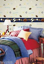 (4) New Rolls NextWall Juv19601 Kids Soccer Football Wallpaper prepasted