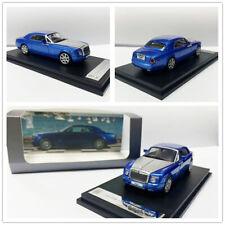 1:64 Rolls Royce Phantom Coupe Metallic Blue Silver Diecast Model Car