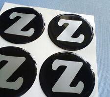 (Z60/2) Z / N  4x Embleme für Nabenkappen Felgendeckel 60mm Silikon Aufkleber