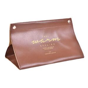 PU Leather Tissue Box Cover Napkin Paper Storage Dispenser Holder Home Organ AG