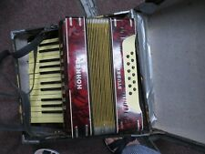 Hohner Sudent II Accordion, Red, Case, Works
