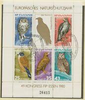BULGARIEN 1980 Block Europäisches Naturschutzjahr; FIP-Kongreß, ESSEN, ESST