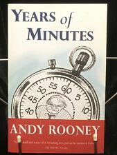 Years of Minutes Andy Rooney Paperback Book First Edition 2003 From 60 Minutes X