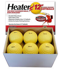"12 Inch Pitching Machine Softballs One Dozen 12"" Softballs From Heater Sports"