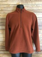 Simms 1/2 Zip Fleece Pullover Size Small Mens Long Sleeve Orange L/S Jacket top
