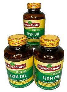 Nature Made Fish Oil 1200 mg 360 mg omega-3 Liquid Softgels, Heart Health 150 Ct