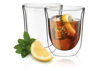 JoyJolt Levitea Insulated Double Wall Coffee Mug Hot/Cold Glasses 8.4 oz 2 Count