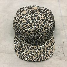 Jeremy Scott Snapback Baseball Cap With Leopard Print