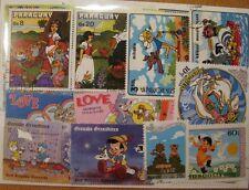 100 verschiedene Briefmarken Walt Disney , Comic , Kinder , Cartoon