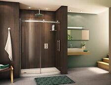 "FLEURCO 57"" - 58"" x 75"" NOVARA BOWFRONT 5/16"" GLASS CURVED FRAMELESS SHOWER DOOR"