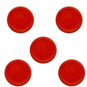 "lot of 5 pcs RED Air Hockey table / 5 Mini Pucks  50mm puck 2"" USA Seller"