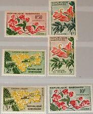 GABON GABUN 1961 160-65 154-59 Blüten Flowers Blumen Pflanzen Plants Flore MNH