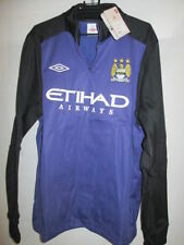 Manchester City Player Issue Blue and Purple Half Zip Jumper Large BNWT /she