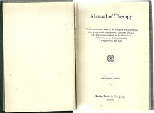 Manual of Therapy Parke Davis and Company Pharmacy Pharmacology 1927