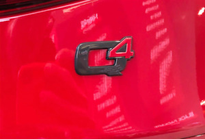 Alfa Romeo Q4 Back Trunk Boot Rear Emblem Badge Decal Sticker Glossy Black Red
