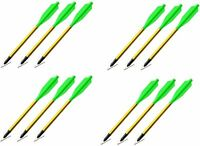 """12 Pack 6"""" Broadhead Bolts for Pistol Grip Crossbows"""