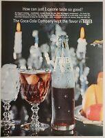 1964 Print Ad Tab 1-Calorie Soda Pop Coca-Cola Company Ice Filled Glasses