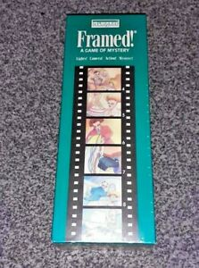 FRAMED ! - A Game of Mystery - Gibson's Games 1992 Vintage - NEW & SEALED - RARE