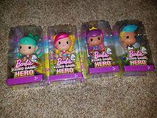 Barbie Video Game Hero Doll Figures Junior LOT OF 4 Green, Skating, Barbie, Ken