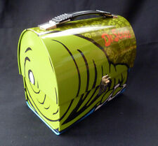~ Mint ~ Dr Seuss Green Eggs & Ham Dome Top Tin Tote ~ Lunch Box ~ Vandor 2002