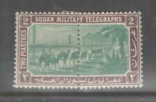Sudan 1897 RARE 2p Military Telegraph Stamp Mtd Mint