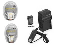 TWO 2X Batteries + Charger for Sony DSC-TX9R DSC-TX9H DSC-TX10 DSC-W690 DSC-WX70