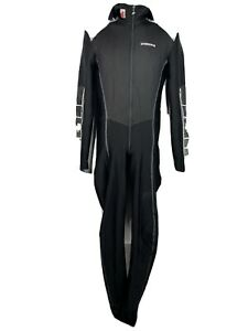 Assos Prosline Winter Bike Cycling Body Suit Men's Large Black Air Block hooded