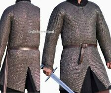 Ci Chain Mail Shirt Armor 10 mm Flat Riveted with Washer Medieval Armour SCA