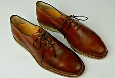 Tanino Crisci Dress Shoes Loafers Sz 9 M Leather Brown Oxfords Hand Made Italy