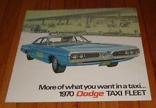 Original 1970 Dodge Taxi Sales Brochure Coronet Polara Sportsman Shuttle Bus