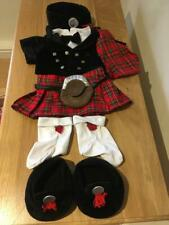 BUILD A BEAR FACTORY RARE & HTF COMPLETE SCOTTISH HIGHLANDER OUTFIT