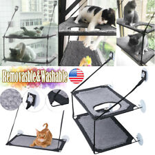 Pet Cat Window Mounted Durable Soft Seat Hammock Perch Bed Hold Shelf Mesh