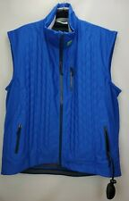 NuDown Mens Recco Mount Whitney Vest Size XL Strong Blue Air Pump Insulated Zip
