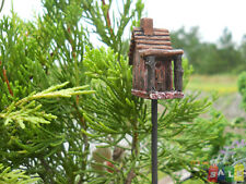 Miniature Fairy Garden Mini Birdhouse Feeder - Dollhouse - Gnome Hobbit Wfg