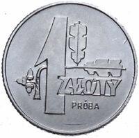 Polen - Münze - 1 Zloty 1958 - Eichenlaub - Probe - Aluminium - Stempelglanz UNC