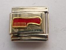 SILVER LINK COMB BRUSH ITALIAN CLASSIC CHARM fits all 9mm Italian bracelet Y1