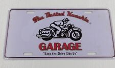 """The Busted Knuckle GARAGE - Tin Sign - 6""""x12"""" MOTORCYCLE SIGN"""