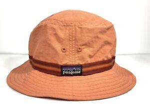 PATAGONIA Cap Hat Patagonia Nylon Bucket Hat Light Weight Coral Size Medium