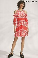 Whistles Aldora Trailing Floral Dress Red Size UK 10 rrp £175 LF079 PP 12