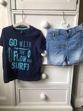 Toddler Baby Boy 12-18 Months Surf T Shirt & Demin Shorts By Tu & Lupilu