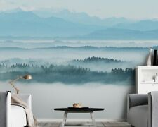 Misty Nature Wall Mural Mountain Non-Woven Removable Textile Wallpaper