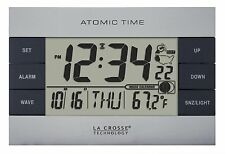 617-1280 La Crosse Technology Atomic Digital Alarm Clock with IN Temperature